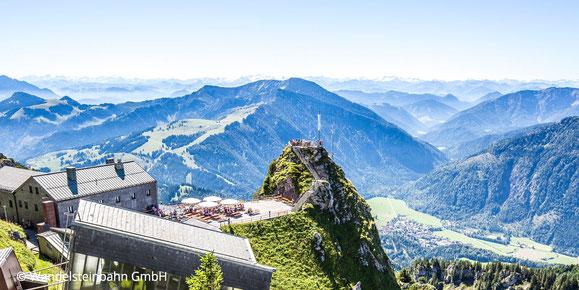 Blick vom Wendelstein, Webseite Gasthof Falkenstein Flintsbach