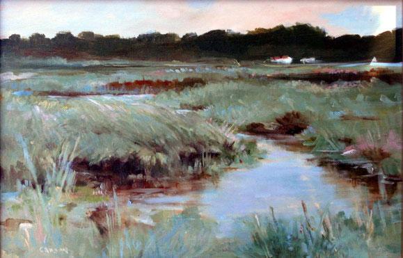 Spring Marsh II: oil on panel