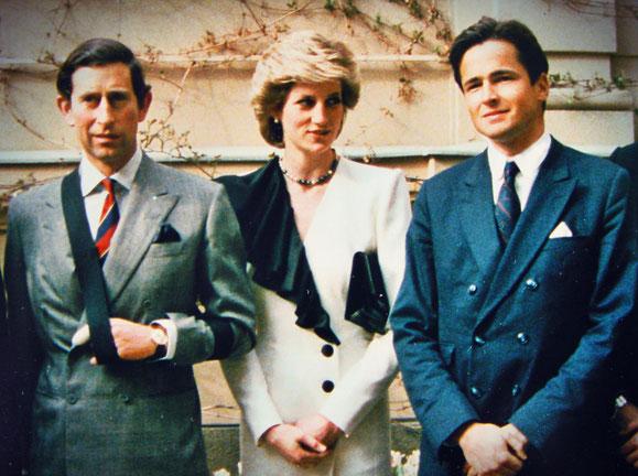Service für allerhöchste Ansprüche: der britische Kronprinz Charles, Prinzessin Diana und Dr.Markus Seiller-Tarbuk 1986