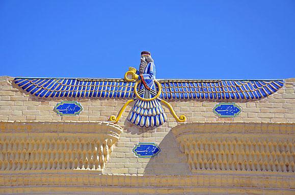 Zoroastre, le prophète fondateur d'une des premières religions monothéistes, chevauchant Nibiru