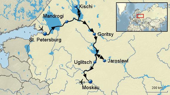 Flusskreuzfahrt Wolga St.Petersburg Moskau mit Flug July August 2016