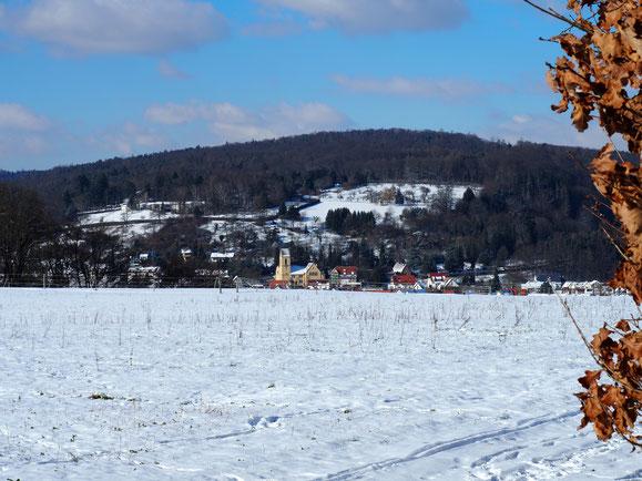In der ersten Februar-Hälfte: einige Tage eisige Kälte in Reichenbach, mit Schnee und Dauerfrost bis minus 12 Grad.