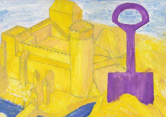 Sandburg (Zeichnung/Foto: Patrick Klapetz)