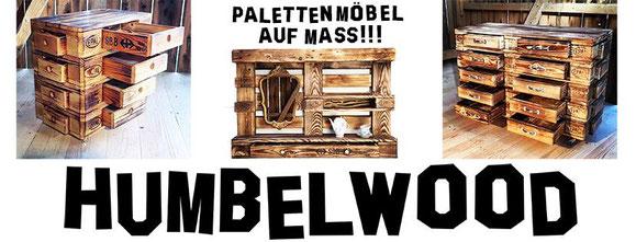 Humbelwood, Palettenmöbel auf Mass, Palettenmöbel, Europalettenmöbel, Möbel aus Europaletten