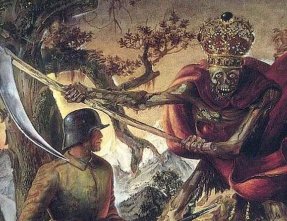 """Otto Dix, """"Il trionfo della Morte"""" (particolare), 1934"""