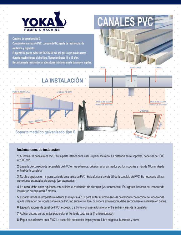 Canaletas de Aguas lluvias, industrial