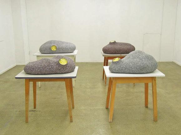 Satt, Hoztisch, Sockelputz, Glaswolle, Metall, 100x60x80 cm (4x)