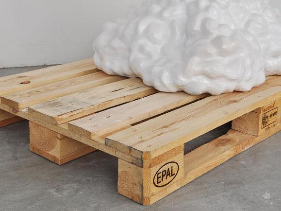 Cumulus, Steinzeugton, Glasur, Palette, 109x120x80 cm