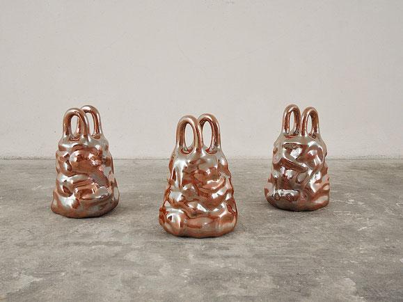 Fulfillingness, Steinzeugton, Glasur, 41x27x27 cm, 3x