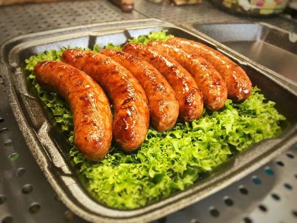 Platz 10 von 54 in der Kategorie vor Ort produzierte Bratwurst.