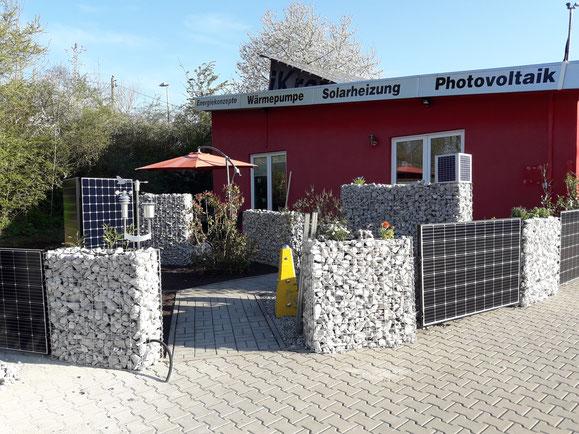 Bild: Solarzaun bei iKratos in Weißenohe