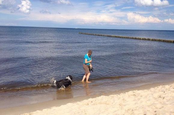 Anja mit Bootsmann
