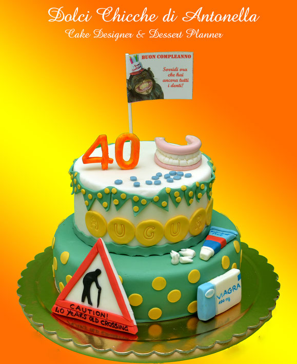 torte decorate- torte 40 anni- compleanno-eventi-feste-pasticceria-dolci-cake design-la spezia-liguria