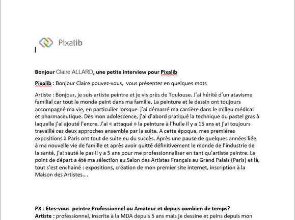 Extrait de l'interview par Pixalib