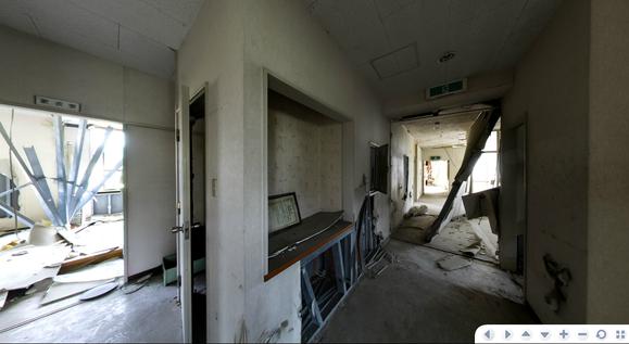 旧社屋の社長室、更衣室など