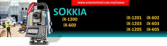 estacion total sokkia robotica iX-1200 iX-600
