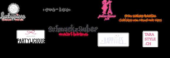 *from Süssigkleid, Luckypiece, Schmuckzauber, Pelina Bijoux, Frau schicke Bastian, Partylicious, mu tricote la vie, Happiiies, Tara style
