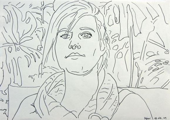 Bea im Urwaldzimmer