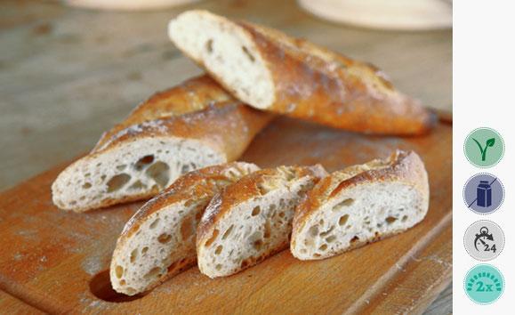 Französisches Baguette, Weizen Brot