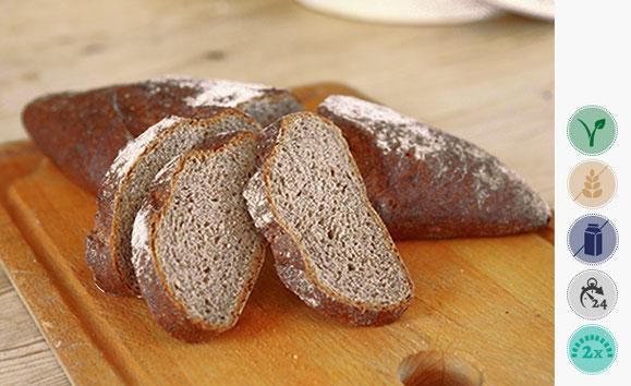 Buchweizen Dinkel Brot