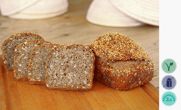 Finnenbrot, Weizen Roggen Brot