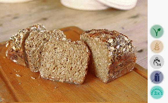 Gersten-Dinkel-Roggen Brot