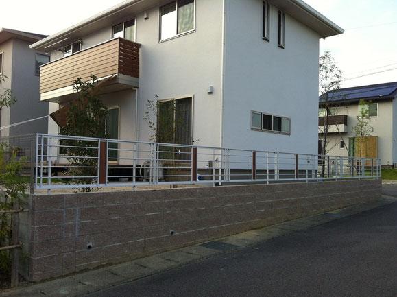 ブロック+フェンス