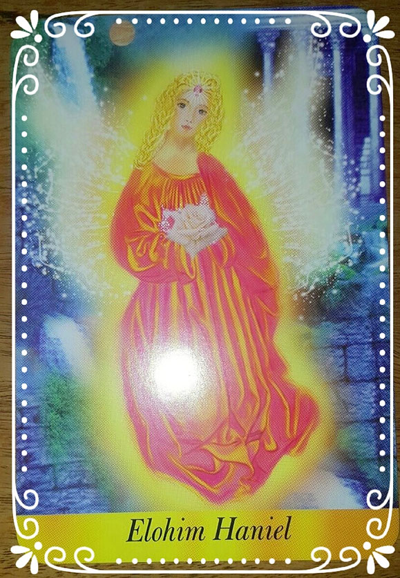 """Aus dem Deck """" Die lichte Kraft der Engel"""" von Jeanne Ruland und Iris Merlino"""