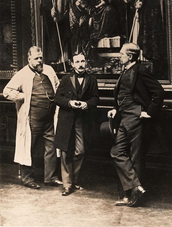 Wilhelm von Bode im Gespräch mit Alois Hauser und Max J. Friedländer, um 1900, Foto: ZA-SMB 2.4.4774