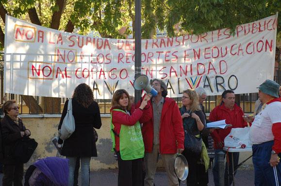 Cacerolada Vicálvaro Asociación de Vecinos Tarifazo