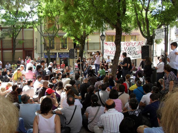 La primera Asamble en Vicálvaro se celebró el 28 de mayo de 2011 (Imagen: todoVicálvaro.es)