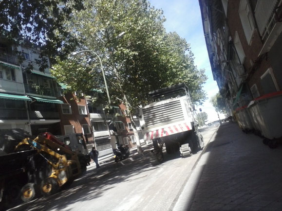 Calle Villajimena. Asfaltado en Vicálvaro