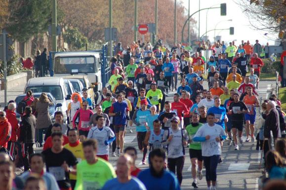 La carrera a su paso por Villablanca