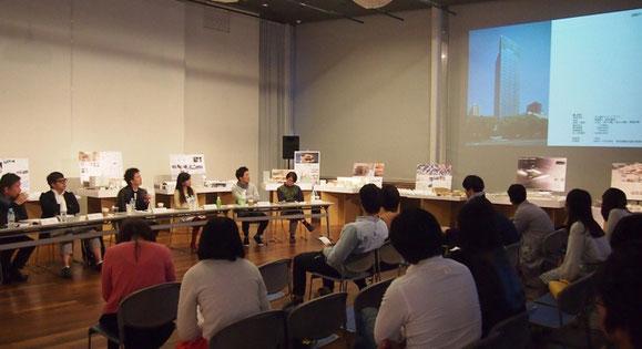 卒業生による「建築のカタチ・都市のカタチ」座談会風景