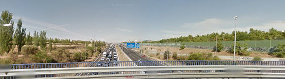 La autopista M40 vista desde la rotonda de la Avenida de Canillejas a Vicálvaro