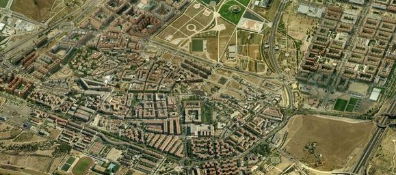 Imagen aérea de Vicálvaro y sus barrios (Bing Maps))
