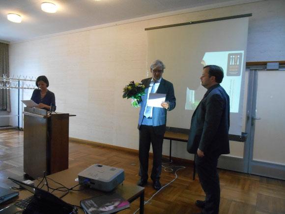 Der Förderverein Liberale Synagoge erhält den 2.GESICHT ZEIGEN-Preis 2014 für Zivilcourage, Foto: Gabriele Claus