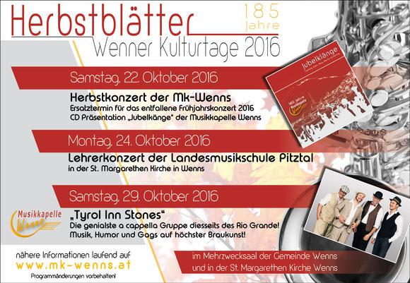 """""""Herbstlätter"""" Wenner Kulturtage 2016"""