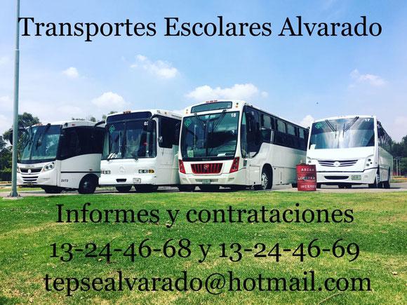 Transportes Escolares Alvarado Nuestro Objetivo es Brindar un Servicio de Transporte Escolar y de Personal , Seguro Confiable y Rentable.