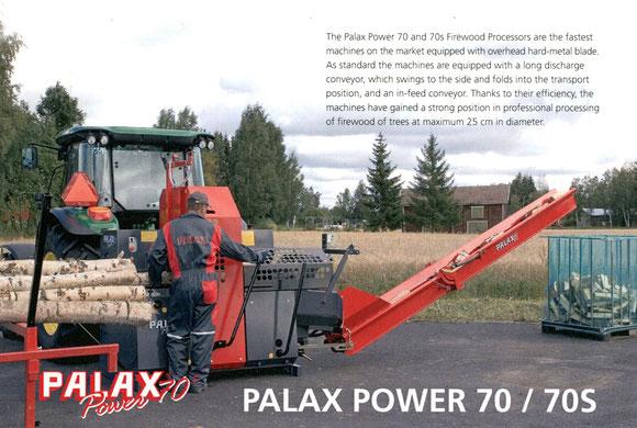 【写真6】薪製造装置の一例。PALAX社のFirewood Processorsのカタログより