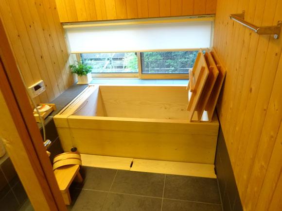 お風呂は「高野槇」 いい香りがします