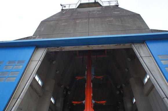 【写真2】観測ロケットはこの中から宇宙に向かって打ち上げられる
