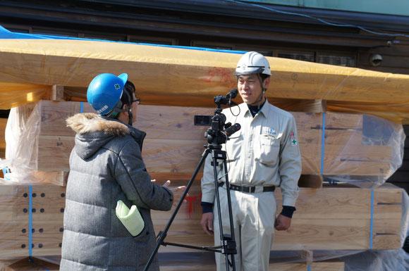 3月下旬には建て方の担当者として現場に行く森山さん