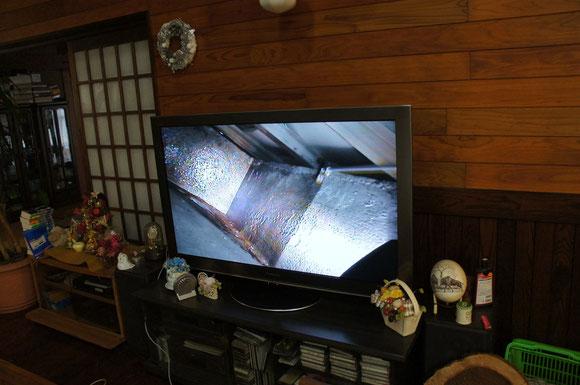 室内のテレビに中継 結構よく見えます