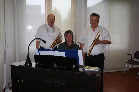 Kirchenmusik Rohrbach (v.l.n.r: Samuel Beutler / Barbara Sägesser / Andreas Christen)