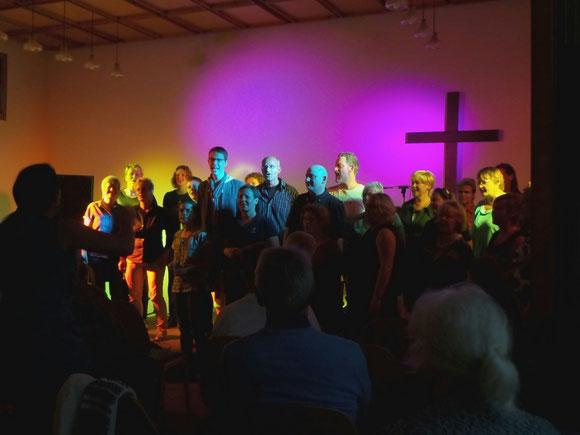 Der Gospelworkshop hatte auch einen Auftritt beim Konzert