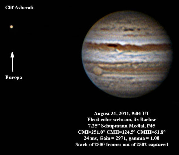 Jupiter and Europa 8/31/11