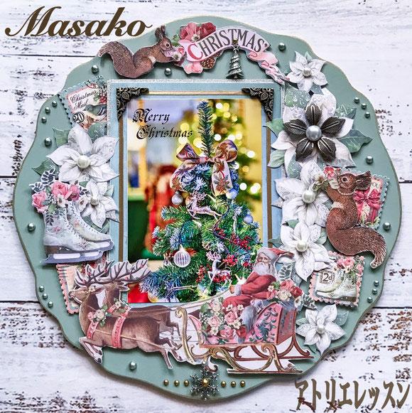 *12月アトリエレッスン「Blue MistのXmas Plate」ご参加ありがとうございました❣インスタで大人気、キットご希望多数!完売です(^^♪