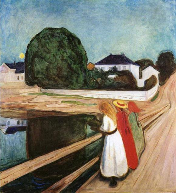 エドヴァルド・ムンク「橋の上の少女たち」(1899年)