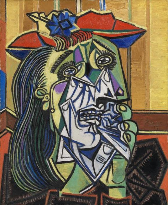 パブロ・ピカソ「泣く女」(1937年)